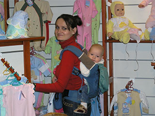 Оксана и Лука на выставке Baby Expo 2008