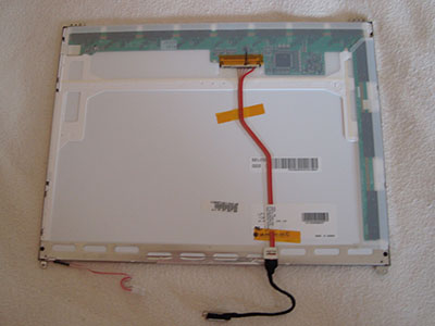 LCD панель экрана ASUS M3000 для замены, вид сзади