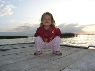 Кристина Карпенко на озере Свитязь