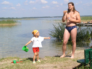 Мыльные пузыри на озере Свитязь